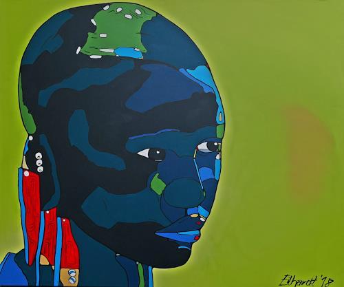 Detlev Eilhardt, It´s me II, Menschen: Gesichter, Menschen: Frau, Pop-Art