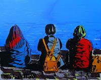 Detlev-Eilhardt-1-Menschen-Gruppe-Natur-Wasser-Moderne-Pop-Art