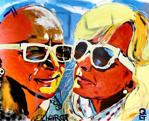 Detlev Eilhardt, MAXI, Menschen: Gesichter, Menschen: Paare, Pop-Art, Abstrakter Expressionismus