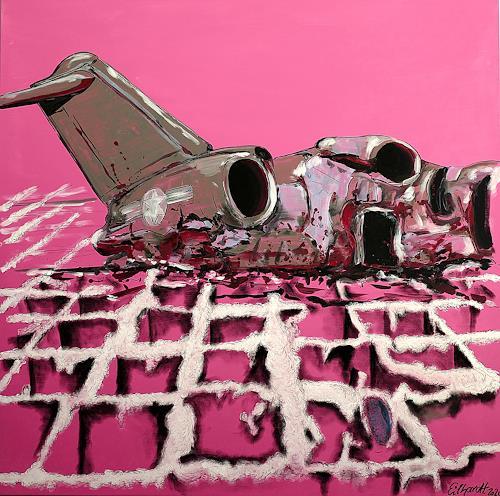 Detlev Eilhardt, caterpillar doll butterfly, Industrie, Technik, expressiver Realismus, Abstrakter Expressionismus