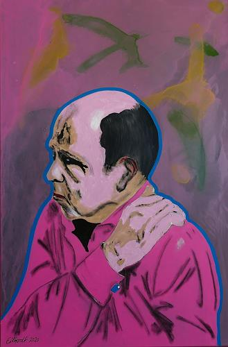 Detlev Eilhardt, Die Last auf meinen Schultern, Menschen: Mann, Symbol, expressiver Realismus, Abstrakter Expressionismus