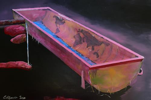 Detlev Eilhardt, Der Trog, Technik, Symbol, expressiver Realismus, Abstrakter Expressionismus