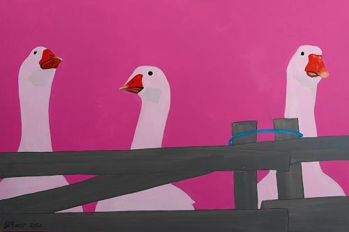 Detlev Eilhardt, GEESE, Tiere: Land, Tiere: Luft, Pop-Art