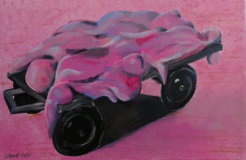 Detlev Eilhardt, meat on wheels, Diverse Menschen, Symbol, expressiver Realismus