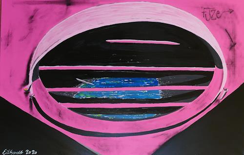 Detlev Eilhardt, stagnant water, Technik, Symbol, expressiver Realismus