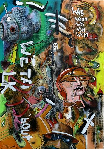 Detlev Eilhardt, FAKE NEWS, Skurril, Fantasie, Neo-Expressionismus