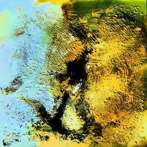 Detlev Eilhardt, Monument III - Ahnung von Nix, Abstraktes, Poesie, Abstrakter Expressionismus
