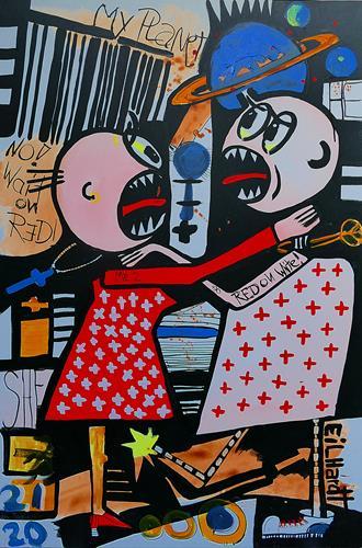 Detlev Eilhardt, my planet, Menschen: Paare, Gesellschaft, Pop-Art