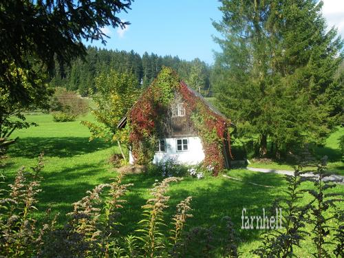 hh farnhell, altes Häuschen, Landschaft: Herbst