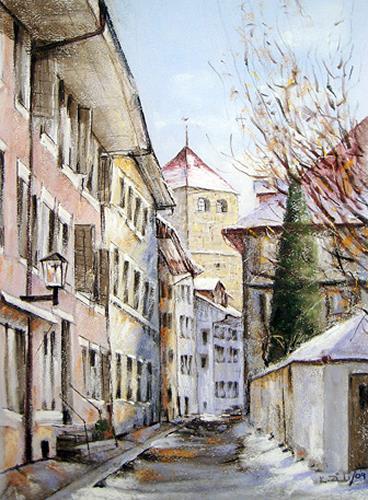 Konrad Zimmerli, Pulverturm, Bauten: Haus, Architektur, Abstrakte Kunst