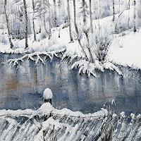 Konrad-Zimmerli-Landschaft-Winter-Natur-Wasser