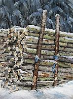 Konrad-Zimmerli-Landschaft-Winter-Natur-Wald-Moderne-Abstrakte-Kunst