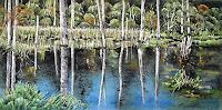 Konrad-Zimmerli-Landschaft-Herbst-Natur-Wasser-Moderne-Naturalismus