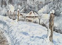 Konrad-Zimmerli-Landschaft-Winter-Natur-Wald-Moderne-Impressionismus