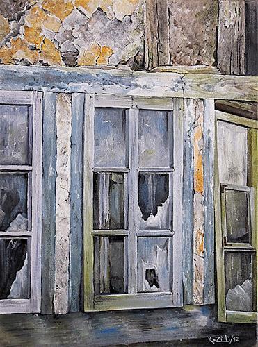 Konrad Zimmerli, Bruchbude, Bauten: Haus, Dekoratives, Abstrakter Expressionismus