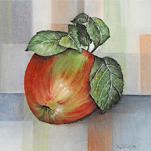 Konrad Zimmerli, Apfel, Dekoratives, Essen
