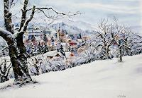 Konrad-Zimmerli-Landschaft-Winter-Architektur-Moderne-Abstrakte-Kunst