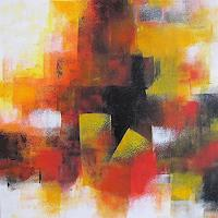 Konrad-Zimmerli-Abstraktes-Dekoratives-Moderne-Abstrakte-Kunst