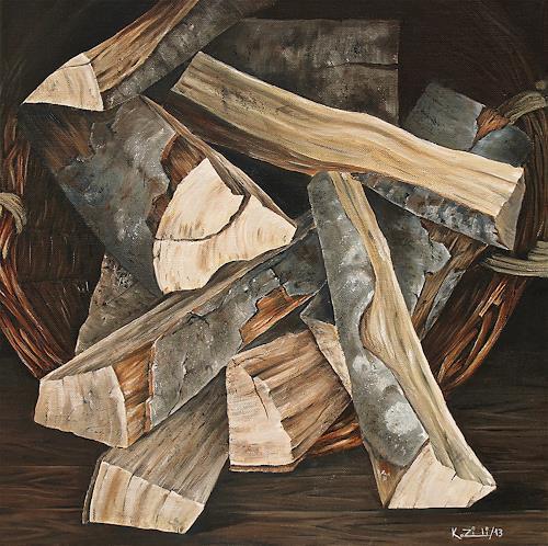 Konrad Zimmerli, Holzkorb, Natur: Wald, Stilleben, Naturalismus, Expressionismus