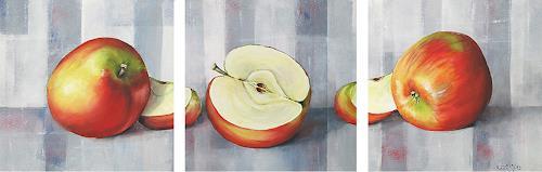 Konrad Zimmerli, Aepfel, Ernte, Stilleben, Abstrakte Kunst