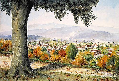 Konrad Zimmerli, Heiternplatz, Landschaft: Herbst, Natur: Wald, Naturalismus