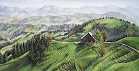 Konrad-Zimmerli-Landschaft-Huegel-Landschaft-Herbst-Moderne-Abstrakte-Kunst