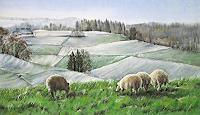 Konrad-Zimmerli-Landschaft-Winter-Diverse-Landschaften-Moderne-Abstrakte-Kunst