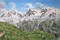 Konrad-Zimmerli-Landschaft-Berge-Landschaft-Sommer-Moderne-Naturalismus