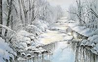 Konrad-Zimmerli-Landschaft-Winter-Natur-Wasser-Moderne-Abstrakte-Kunst