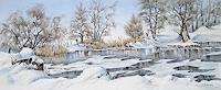 Konrad-Zimmerli-Landschaft-Winter-Natur-Wasser-Moderne-Impressionismus