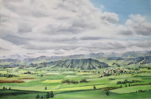 Konrad Zimmerli, Holz I, Landschaft: Winter, Natur: Wald, Naturalismus