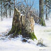 Konrad-Zimmerli-Landschaft-Winter-Natur-Wald-Moderne-Naturalismus