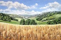 Konrad-Zimmerli-Landschaft-Sommer-Ernte-Moderne-Naturalismus