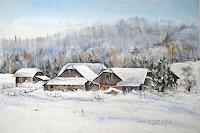 Konrad-Zimmerli-Landschaft-Winter-Wohnen-Dorf-Moderne-Abstrakte-Kunst