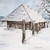 Konrad-Zimmerli-Natur-Diverse-Landschaft-Winter-Moderne-Abstrakte-Kunst