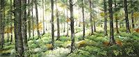 Konrad-Zimmerli-Pflanzen-Baeume-Landschaft-Herbst-Moderne-Abstrakte-Kunst