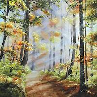Konrad-Zimmerli-Natur-Wald-Landschaft-Herbst-Moderne-Abstrakte-Kunst