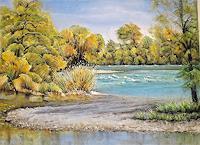 Konrad-Zimmerli-Natur-Wasser-Landschaft-Moderne-Abstrakte-Kunst