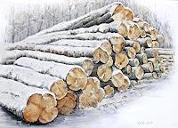 Konrad-Zimmerli-Landschaft-Winter-Pflanzen-Baeume-Moderne-Naturalismus
