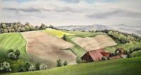 Konrad-Zimmerli-Landschaft-Fruehling-Natur-Wald-Moderne-Naturalismus