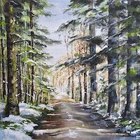 Konrad-Zimmerli-Natur-Wald-Landschaft-Winter-Moderne-Naturalismus