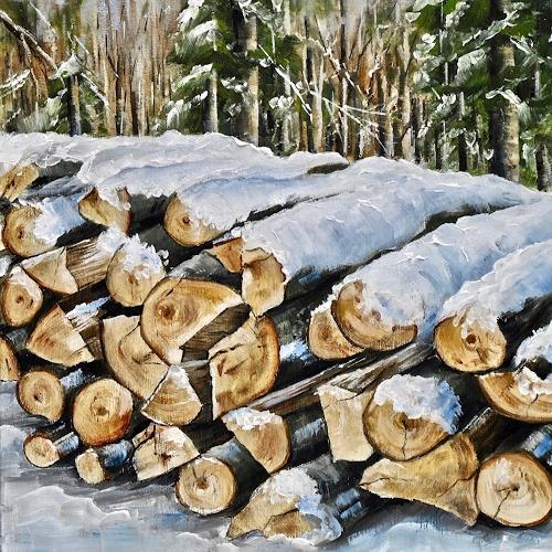 Konrad Zimmerli, Wald IV, Landschaft: Winter, Natur: Wald, Naturalismus