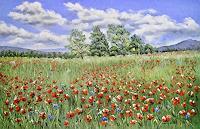 Konrad-Zimmerli-Landschaft-Sommer-Natur-Diverse-Moderne-Naturalismus