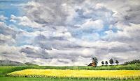 Konrad-Zimmerli-Landschaft-Ebene-Landschaft-Fruehling-Moderne-Impressionismus-Neo-Impressionismus
