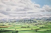 Konrad-Zimmerli-Landschaft-Sommer-Natur-Erde-Moderne-Naturalismus