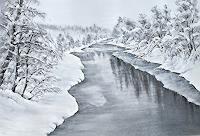 Konrad-Zimmerli-Landschaft-Winter-Natur-Wasser-Moderne-Naturalismus