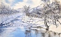 Konrad-Zimmerli-Landschaft-Berge-Landschaft-Winter-Moderne-Naturalismus