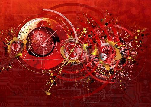 Franziskus Pfleghart, dital time shift, Fantasie, Gesellschaft, Abstrakte Kunst, Expressionismus