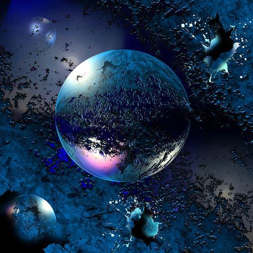 Franziskus Pfleghart, blue foreigen Angel, Abstraktes, Weltraum: Gestirne, Abstrakte Kunst, Abstrakter Expressionismus
