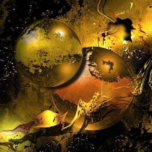 Franziskus Pfleghart, Golden Things, Abstraktes, Abstraktes, Abstrakte Kunst, Expressionismus